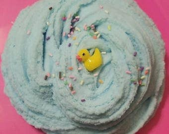 Sprinkle Ocean Cloud creme slime with ducky charm