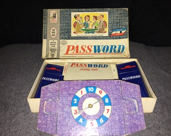 Password game from 1962