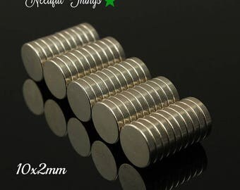 10 pieces of strong round magnets 10 mm
