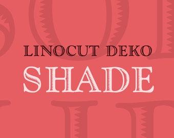 Linocut Deko Shade Font