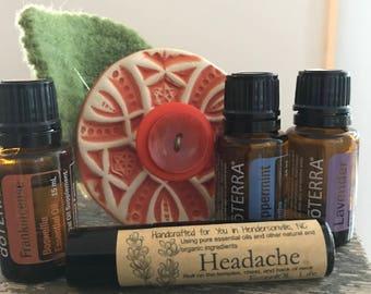 Headache roll on essential oil blend