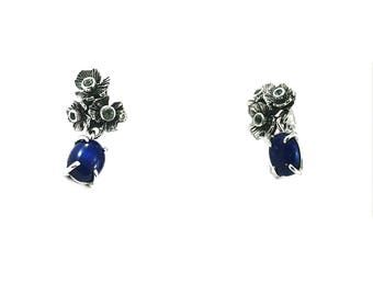 Handmade Silver Earrings with Lapis Lazuli