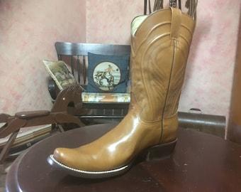 Beige Colored Cowboy Boots