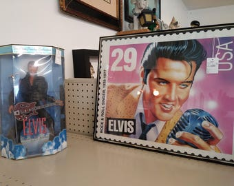 Elvis Doll and framed poster
