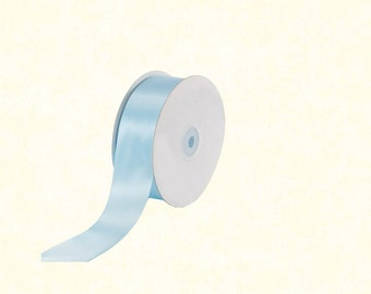 "25 Yards: 1.5"" Light Blue Satin Ribbon"