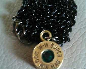 Bullet shell necklace, with Jewel or without.
