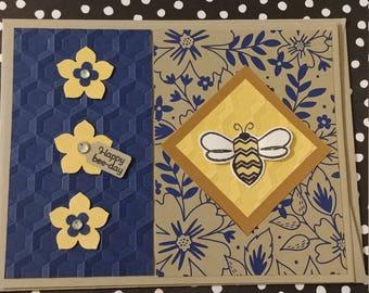 Haply Bee-Day Birthday Card