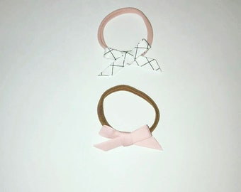 Baby bow headband set