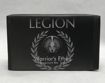 Warriors Ethos Peppermint Bar Soap