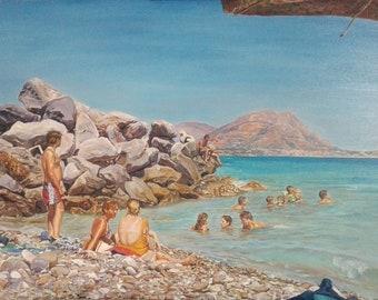 """Oil on canvas """"Neverending Summer"""", CM 50x 70"""
