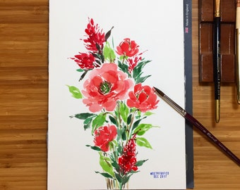 Loose Floral Watercolor Painting