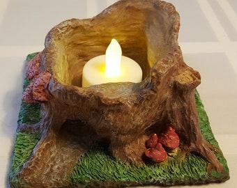 Fairyland candle/planter OOAK