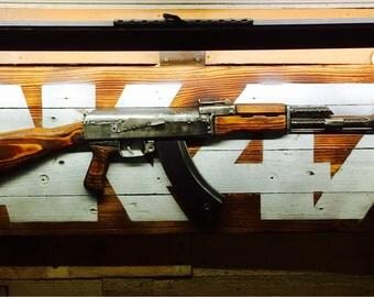 AK-47 Kalashnikov 3d Wall Art Lamp