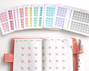 Mini Date Flags, Planner Stickers, Date Cover Stickers, Calendar Numbers, 1-31, Your Choose colors, Day Numbers, Day of The Month, DAT11