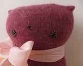 Kitty Raspberry Sweater Softie
