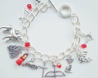 All Men Must Die Charm Bracelet inspired by Game of Thrones
