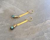 Custom Chalcedony Drop Earrings