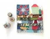 Vintage Barkcloth Fabric Bundle, Fifties Atomic, Scrap Packs, Fabric Scraps, Vintage Scraps
