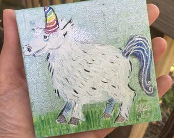 Tiny Painting- Shimmer Unicorn