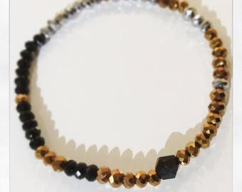 Faceted Glass Bead Bracelet - Ombre