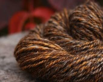 Butterscotch - Handspun Alpaca and Red Eri Silk