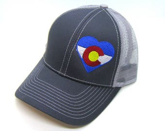 Clearance - Sale - Gift - Gracie Designs Hat - Colorado Love Trucker hat