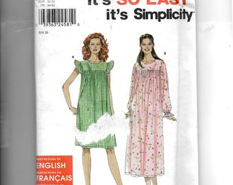 Simplicity Misses' Nightgown Pattern 9540