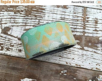 CRAZY SALE- Custom Leather Cuff-Create Your Own-Word Cuff-Hand Painted-Grafitti Collection