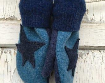 CRAZY SALE- Blue Star Mittens- Elle Elephant-Eco Friendly-Preteen-Child