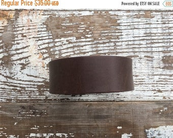 40% OFF- Custom Leather Cuff-Create Your Own-Brown Leather-Word Cuff