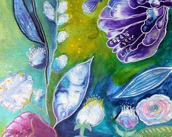 Whimsical Intuitive Painting Create Your Life Inspirational Art by Carol Iyer