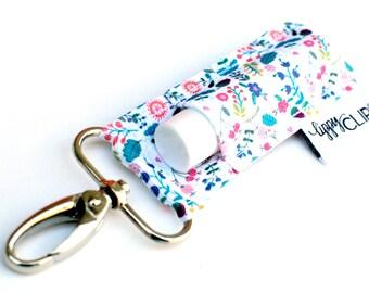 LippyClip® Lip Balm Holder for Chapstick, Burt's Bees, etc. |  Clip-On Keychain | Spring Floral