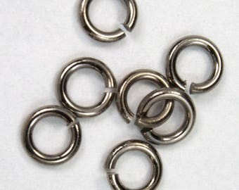 6mm Gunmetal Jump Ring 18 Gauge #RJC024