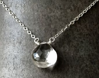 Bohemian Topaz Choker Necklace, Gemstone Choker Necklace, Silver Choker Necklace
