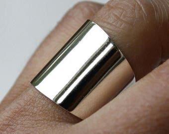 ON SALE TODAY Sterling Silver Wide Ring, Cuff Ring, Large Silver Ring