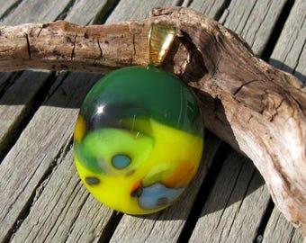 Fused Glass Abstract Mini Pendant