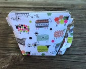 Small Knitting Project Bag - Sheep Project Bag - Knitting Bag - Sock Size Bag - 1 to 2 Skein Project Bag