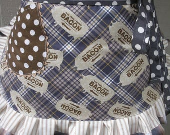 Aprons - Womens Pig Aprons - Bacon Aprons - Aprons with Bacon Fabric - Pig Aprons - Brown Aprons - Waist Aprons - Annies Attic Aprons - Etsy