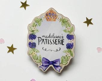 Lavender Patisserie Brooch Pin Badge