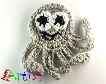 Crochet Applique Octopus