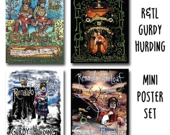 "Renaldo and The Loaf Mini Poster Set 11"" X 14"" 4 different images including Gurdy Hurding album cover art"