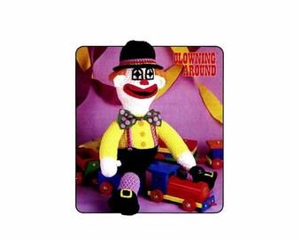 SALE Howie Hobo Clown Doll Clowning Around Crochet Pattern Annies Pattern Club