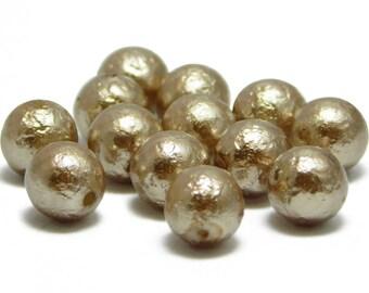 Czech Glass Beads - Pearl Beads - Round Beads - Czech Pearls - 8mm Beads - Mocha Brown - 13pcs (3139)
