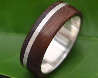 Size 9.5, READY TO SHIP Solsticio Nacascolo Wood Ring - ecofriendly wood wedding band, mens wedding band, wood wedding ring