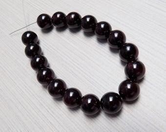 Large Garnet beads