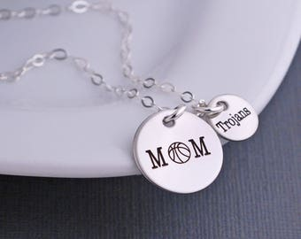 Personalized Basketball Mom Necklace, Basketball Mom Jewelry, Sports Mom Gift, Basketball Necklace