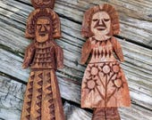 Carved Wooden Women Art