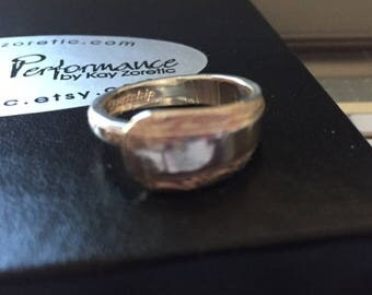 Spoon Ring, Solid Sterling Silver, Size 5 to 6