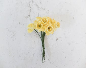 10 yellow paper daffodil - yellow paper flowers