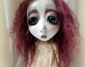 RESERVED Loopyboopy Southern Gothic Goth Steampunk Art Doll Audrey
